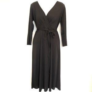 LOFT Waist Tie Work Midi Dress Size 6